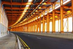 Túnel de aço imagens de stock