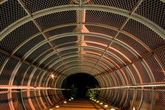 Túnel de aço da ponte   imagens de stock