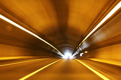 Túnel de alta velocidad Fotos de archivo libres de regalías