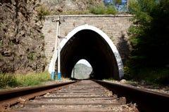 Túnel de estrada de ferro velho perto do lago Baikal Fotografia de Stock Royalty Free