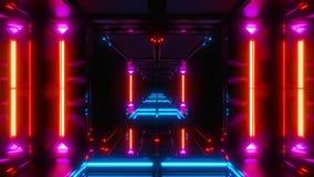Túnel de incandescência agradável do espaço do scifi ilustração do vetor