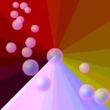 Túnel de la burbuja Stock de ilustración
