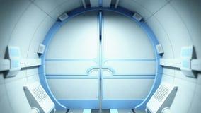 Túnel de la ciencia ficción stock de ilustración