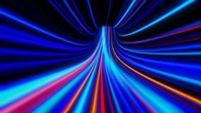 túnel de la deformación del extracto 4K ilustración del vector
