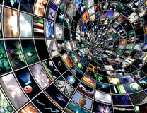 Túnel de la difusión Imagen de archivo libre de regalías