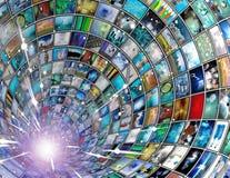 Túnel de la difusión Fotos de archivo