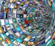 Túnel de la difusión Imágenes de archivo libres de regalías