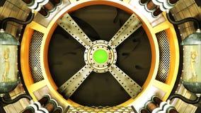 Túnel de la era espacial stock de ilustración