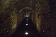 Túnel de la fortaleza vieja Foto de archivo