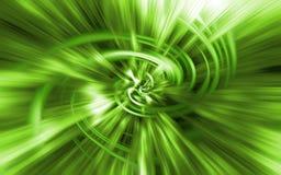Túnel de la luz verde Fotos de archivo libres de regalías