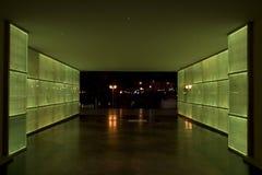 Túnel de la luz verde Foto de archivo