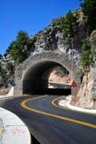 Túnel de la montaña Foto de archivo libre de regalías