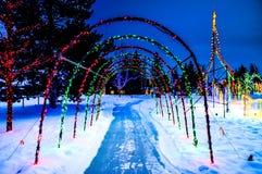 Túnel de la Navidad Foto de archivo libre de regalías