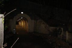 Túnel de la noche Fotografía de archivo