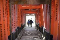 Túnel de la puerta de Torii Imagen de archivo libre de regalías