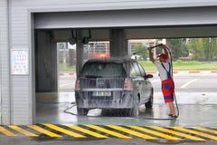 Túnel de lavado Foto de archivo libre de regalías