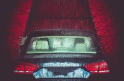 Túnel de lavado automático del cepillo Foto de archivo libre de regalías