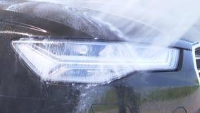 Túnel de lavado manual Vehículo moderno de limpieza almacen de video