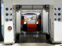 Túnel de lavagem Fotografia de Stock
