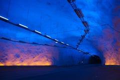 Túnel de Leardal Imagens de Stock