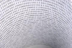 Túnel de los dígitos imagen de archivo libre de regalías