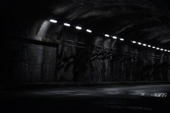 Túnel de neón en la noche Imágenes de archivo libres de regalías