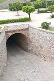 Túnel de pedra Imagens de Stock