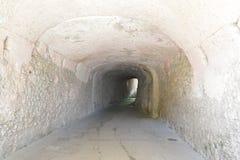 túnel de piedra Foto de archivo libre de regalías