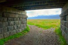Túnel de piedra fotos de archivo libres de regalías