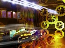 Túnel de vento do Fórmula 1 ilustração do vetor
