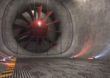 Túnel de vento gigante Imagem de Stock Royalty Free