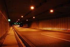 Túnel del camino Foto de archivo libre de regalías