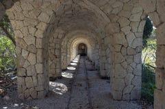 Túnel del camino de carril Foto de archivo libre de regalías