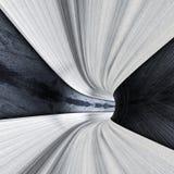 Túnel del concepto del metal de camino libre illustration