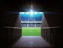 Túnel del estadio imagen de archivo
