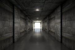 Túnel del estadio de los deportes Imagenes de archivo
