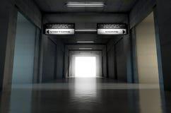 Túnel del estadio de los deportes Foto de archivo