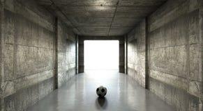 Túnel del estadio de los deportes del balón de fútbol Fotos de archivo libres de regalías