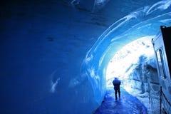 Túnel del hielo Fotos de archivo libres de regalías