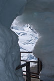 Túnel del hielo en Chamonix, Francia fotografía de archivo libre de regalías