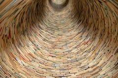 Túnel del libro en la biblioteca de Praga Foto de archivo libre de regalías