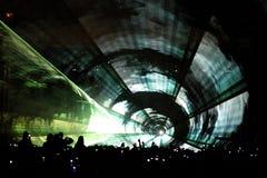 Túnel del partido del laser Foto de archivo