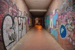 Túnel del pie Imagen de archivo libre de regalías