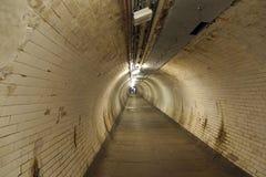 Túnel del pie de Greenwich Fotos de archivo libres de regalías