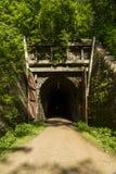 Túnel del rastro de la bici Fotografía de archivo