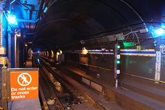 Túnel del subterráneo Imágenes de archivo libres de regalías
