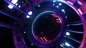 Túnel digital de néon do laço de VJ video estoque