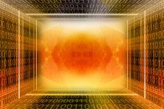 Túnel digital do código binário Foto de Stock Royalty Free