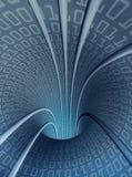 Túnel digital vertical hueco libre illustration
