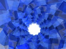 Túnel do bloco Fotografia de Stock